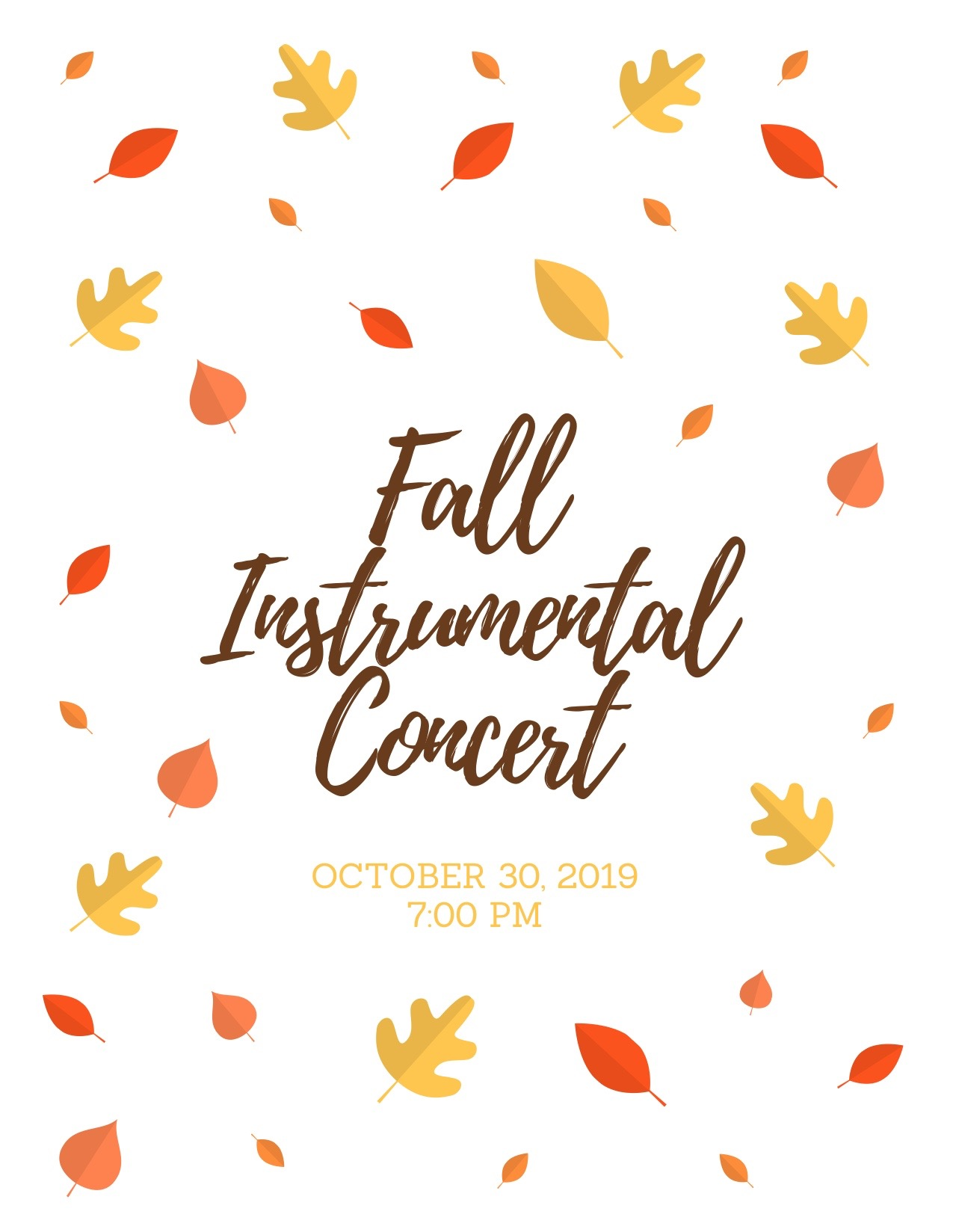 Fall Instrumental Concert Program Cover